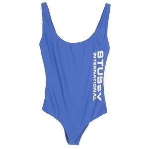 Blue STUSSY Wells one pc swim suit